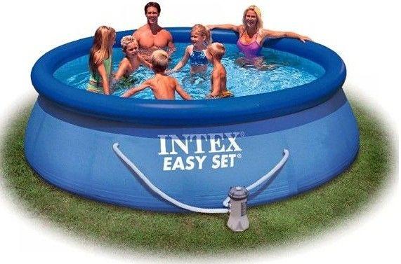 Las piscinas inflables redondas al aire libre con el for Piani del cortile con piscine